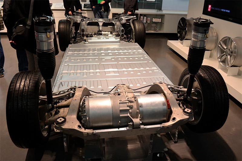 Motor eléctrico de un Tesla Model S