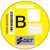 Imagen de la pegatina B de la DGT