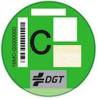 Imagen de la pegatina C de la DGT