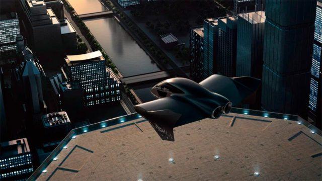 Prototipo de avión eléctrico volador