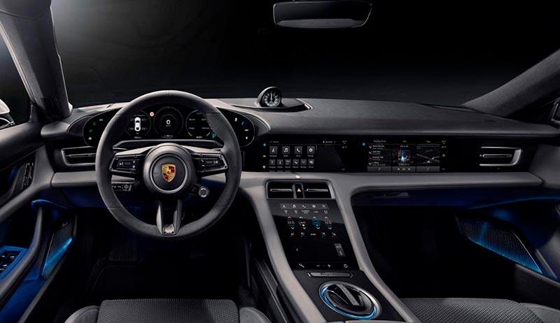 Foto del interior del Porsche Taycan