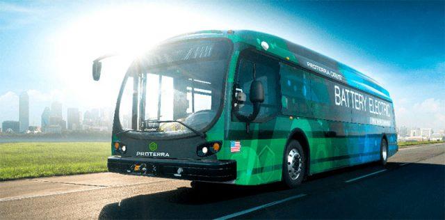 Imagen del autobús eléctrico Proterra