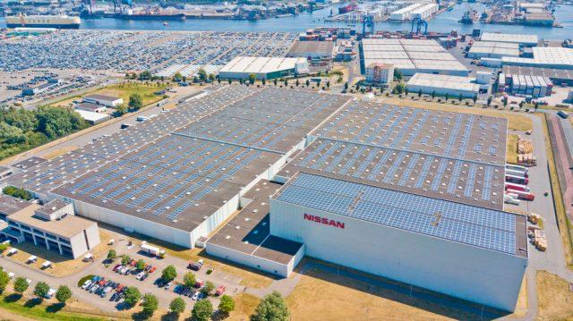 Imagen del techo solar de Nissan más grande de Europa