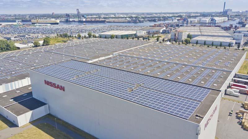 Techo Solar más grande de Europa situado en la fábrica de Nissan