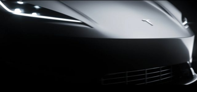 Tesla Roadster digitalizado