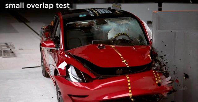 Pruebas seguridad del Tesla Model 3 por el IIHS