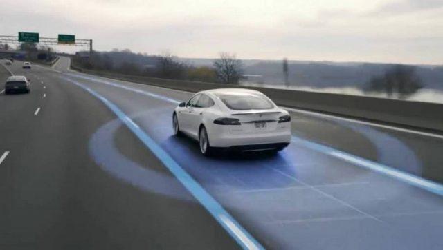 Foto del Autopilot de Tesla