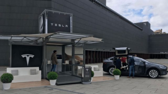Tienda de Tesla en Pamplona