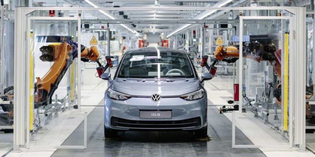 Volkswagen ID3 en la fábrica
