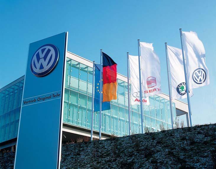 Imagen de la fábrica de Volkswagen (VW)
